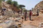 Waterdam in aanbouw in Konso (Ethiopië)