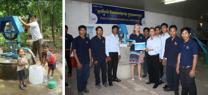 Cheque van € 15.000 overhandigd voor Waterproject Cambodja