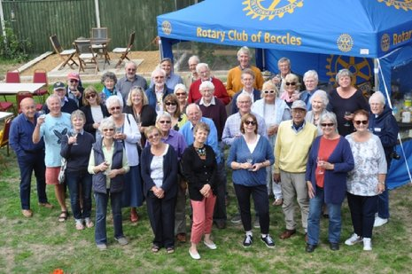 Everyone at the buffet lunch as Beccles Rotary Club welcome visitors on the Dutch exchange. Picture: Serena Emberley