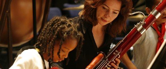 samen oefenen met het Nederlnds Philharmonisch Orkest