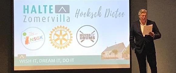 Roelof Hemmen presenteert het Hoeksch dictee 2019